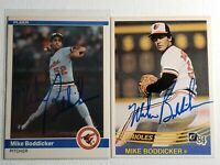 1984 Mike Boddicker Auto Lot Autograph Donruss Fleer Card Red Sox Orioles Signed