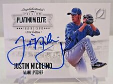 2014 OnyxAuthenticated Platinum Elite JUSTIN NICOLINO On Card Auto Card #191/200
