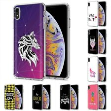 Thin Gel Design Protective Phone Case Cover for Apple iPhone XR,Wolf Style Print
