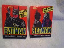1989 BATMAN MOVIE 2nd Series 2 Unopened Packs,jack nicholson,michael keaton