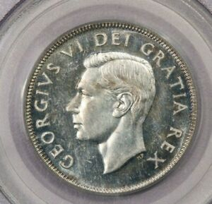 1949 Canada 50c PCGS MS62 Old Green Holder
