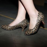 NEW Gorgeous Womens Leopard Heels Shoes Sz 2-11(A43883)