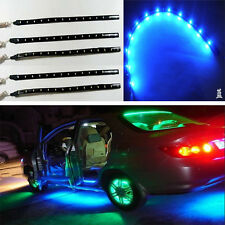 Practical 5x 30cm 15 LED Car Lighting Flexible Decorative Light Lamp Strip BLUE