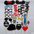 LOCA 31PCS DIY Mask Photo Booth Props Mustache On A Stick Wedding Birthday Party