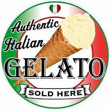 More details for gelato sign, sticker printed food cafe restaurant pos