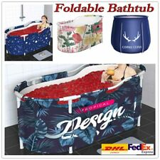 Portable Bathtub Water Tub Folding PVC Adult Spa Bath Bucket Rectangle Home DHL