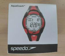 SPEEDO AQUACOACH SWIMMING SPORTS SMART WATCH BLACK RED FREE UK P&P