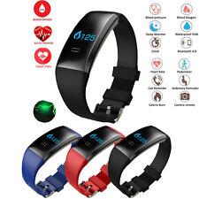 Blood Pressure Oxygen Monitor Heart Rate Sports Wristband Smart Watch Bracelet