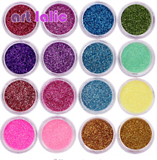 30 Fine Glitter Colors Nail Art Glitter Powder Dust Acrylic UV Gel Tips Set DIY