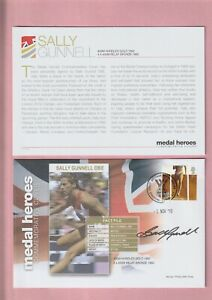 G.B. London 2012 Olympic Games, Medal Heroes, Sally Gunnell OBE Signed Cover