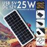 12V 25W Flexible Solar Panel USB Generator Camping Power Mono Charging DIY Kit