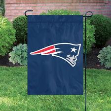 "2 New England Patriots NFL Premium Quality Garden Flag 18"" x 12.5"""