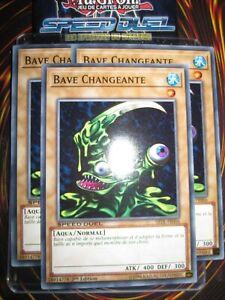 YU-GI-OH! PLAYSET (LOT DE 3) BAVE CHANGEANTE SBTK-FR006 MINT NEUF EDITION 1