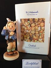 "Goebel M.I.Hummel ""BOY WITH TOOTHACHE"" #827 Hum 217 with Original Box & COA TMK7"
