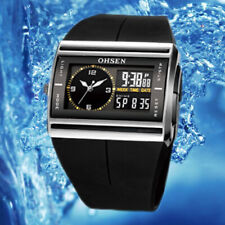 OHSEN Rubber Band Water Resistant Military Digital Quartz Men Wrist Watch GIFT