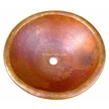 """Hand Painted Copper Sink Round Bliss 15/""""x 5/"""" and 17/"""" x 5/"""""""