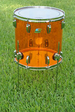 """LUDWIG USA 16"""" CLASSIC AMBER VISTALITE FLOOR TOM for YOUR DRUM SET! LOT #F502"""
