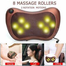 Electric Massage Pillow Lumbar Back Neck Massager Heat Cushion Kneading Shiatsu