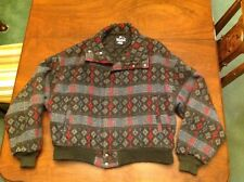 Vintage Woolrich USA Men's Southwest Indian Print Wool Quilted Lined Coat