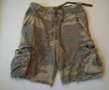 Men's Abercrombie & Fitch Distressed Faded Camo Cargo Cut Off Shorts Size 30
