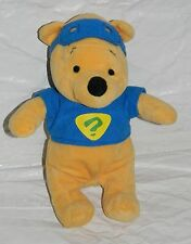 "**Disney Plush Winnie The Pooh Stuffed Animal Bear Detective Mask Blue 9"""