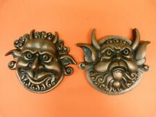 Labyrinth Mouth Holding And Deaf Door Knocker Faces  From Jim Henson copper