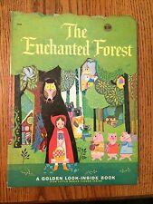 The Enchanted Forest Vintage Children's Golden Look-Inside Board Book 1964
