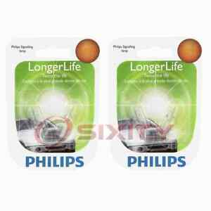 2 pc Philips License Plate Light Bulbs for Jaguar F-Type S-Type Super V8 vx