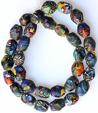 """26"""" Strand Large Colorful Millefiori Beads from the African Trade"""