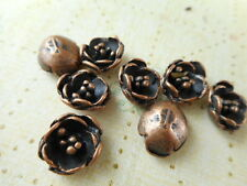 50 Antique Copper Plated Flower Component 61390