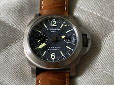 *Rare* 2003 Panerai PAM00089 PAM 89 Luminor GMT Titanium Anthracite Dial Watch