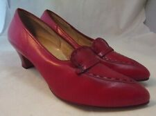 Maison Blanche 11.5 D Cherry Red Vintage 50s Pumps Wide