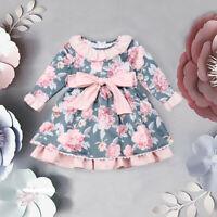 Flower Baby Girl Toddler Kids Princess Dress Party Birthday Bowknot Tutu Dresses