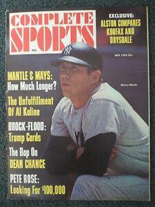 Mickey Mantle - Yankees - Baseball - 1968 COMPLETE SPORTS Magazine