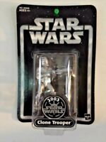 Star Wars 2003 Saga 25th Silver Aniversary Chase Clone Trooper TRU Exclusive OTC