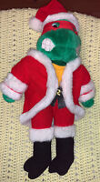 "Teenage Mutant Ninja Turtles TMNT RAPHAEL SANTA Plush Doll 18"" 1990 Playmates"