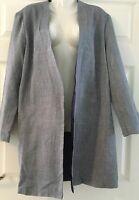 Women's edge to edge coat navy plus size 16/18, 28/30 Lined jacket slide in pock