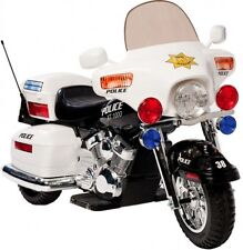 Kids Electric Battery Powered Police Patrol Riding Motorcycle Bike Toy 12 V NEW
