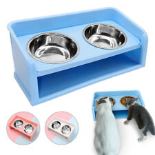 Raised Dog Feeder Elevated Double Bowls Twin Cat Pet Water Food for Large Dogs