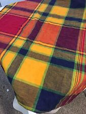 "Tablecloth SQUARE MULTI-COLOR Plaid 100% COTTON ~ 32""X32"""