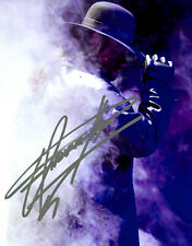 THE UNDERTAKER WWF WWE AUTOGRAPHED 8X10 PHOTOGRAPH EXTREMELY RARE B