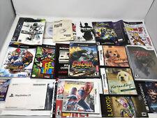 Large Manual Insert Cover Art Video Game Lot Nintendo Sony Sega Xbox *No games*