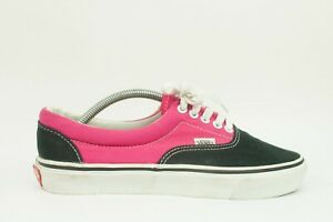 Vintage 90s Vans Authentic Two Tone Shoes Pink/Black 8 1/2 Made in USA