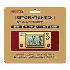 NEW Nintendo 3DS Retro Plate & Watch Kisekae Cover