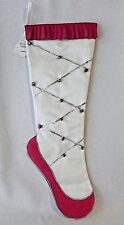 Dance Ballet Christmas Stocking Martha Stewart Pink Silver Bells NWT Slipper Toe