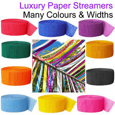 Paper Streamers Crepe Wedding Venue Ceiling Decorations Supplies Celebration UK