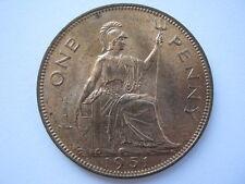 1951 George VI Penny, A UNC.