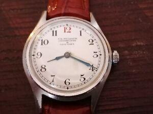 Vintage Moeris mechanical watch J E Murdock with ceramic dial