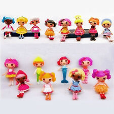 Lot of 8pcs Mini Lalaloopsy Dolls Cute Small Toys Home Decor Collections Pro