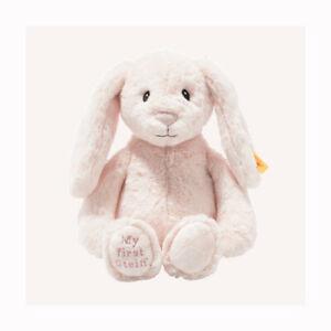 Steiff 242359 / 242106 My First Hoppie PINK rabbit with Steiff GIFT Box